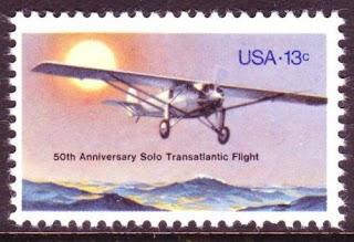 USA Lindbergh's transatlantic flight