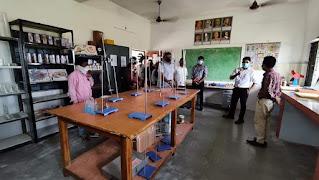 मुख्य कार्यपालन अधिकारी आशीष वशिष्ठ ने विद्यालय तारापुर का निरीक्षण किया