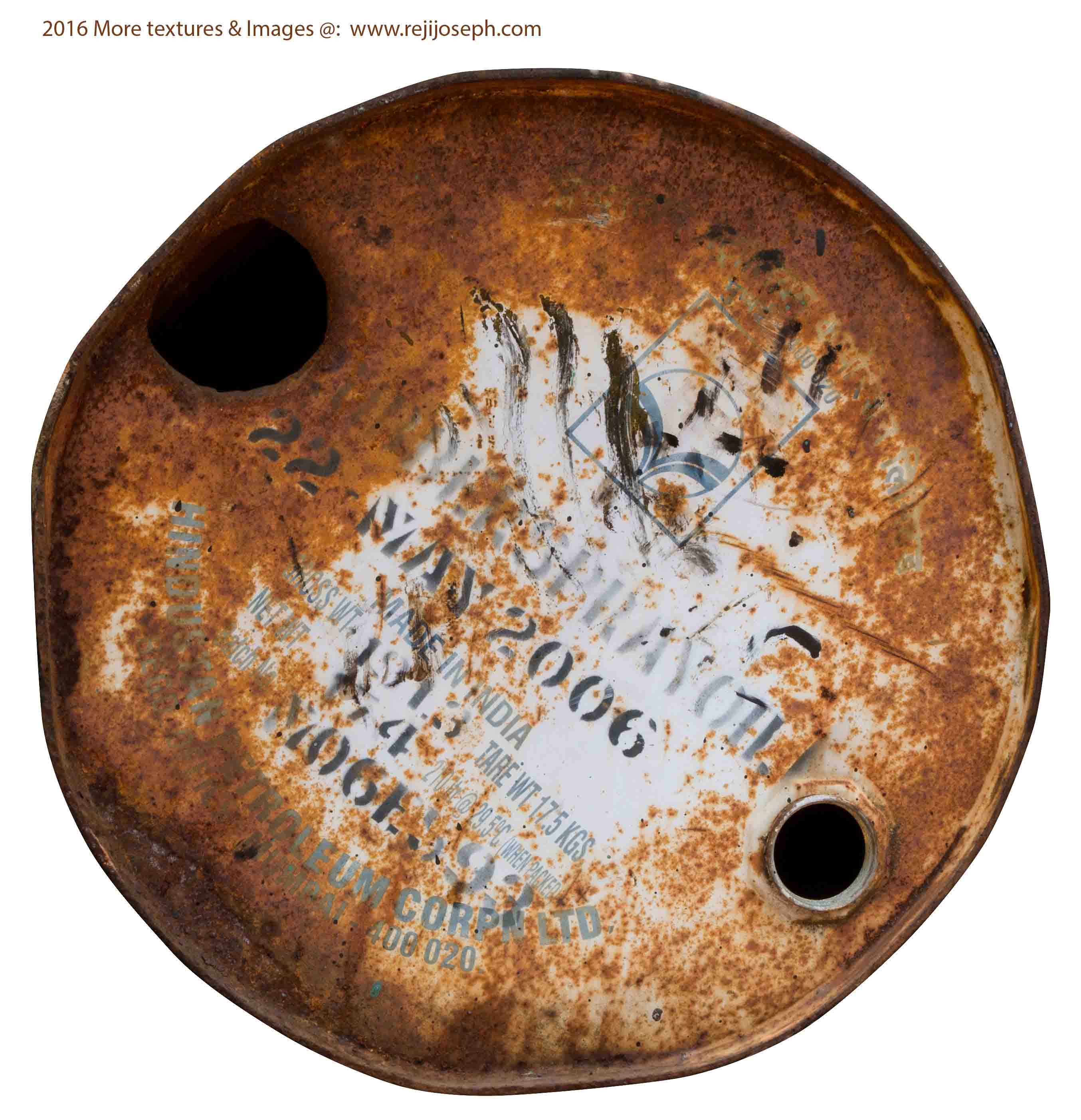 Rusty metal Oil can texture 00023