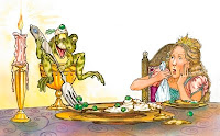 η βασιλοπούλα και ο βάτραχος