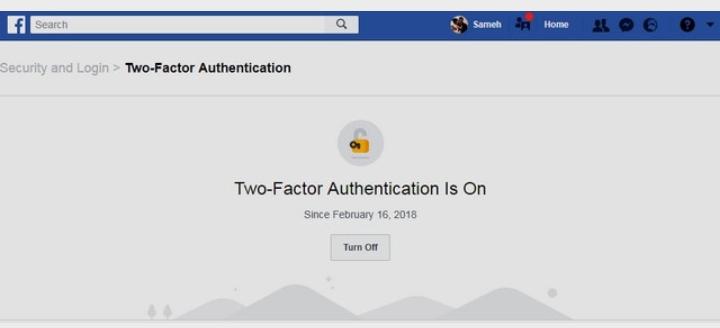 طريقة تفعيل ميزة التحقق بخطوتين فى الفيسبوك بدون رقم الهاتف