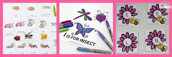 Bug Language Arts Activities