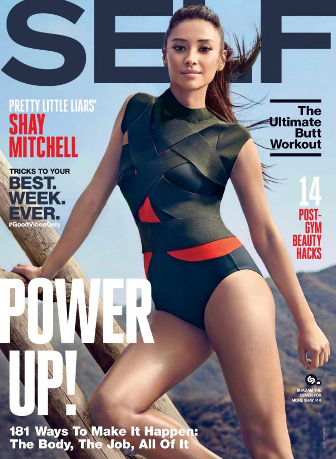 Shay Mitchell goes athletic for Self Magazine November 2016