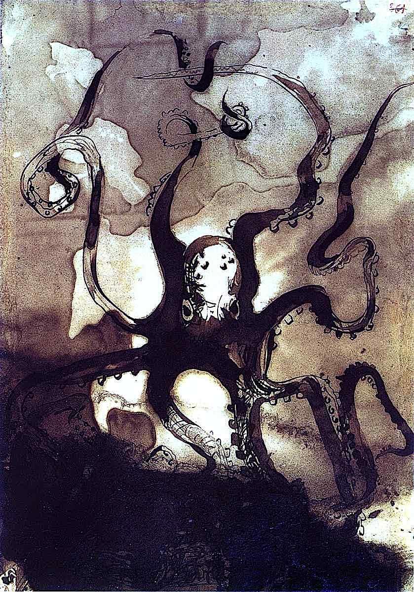 Victor Hugo, an octopus