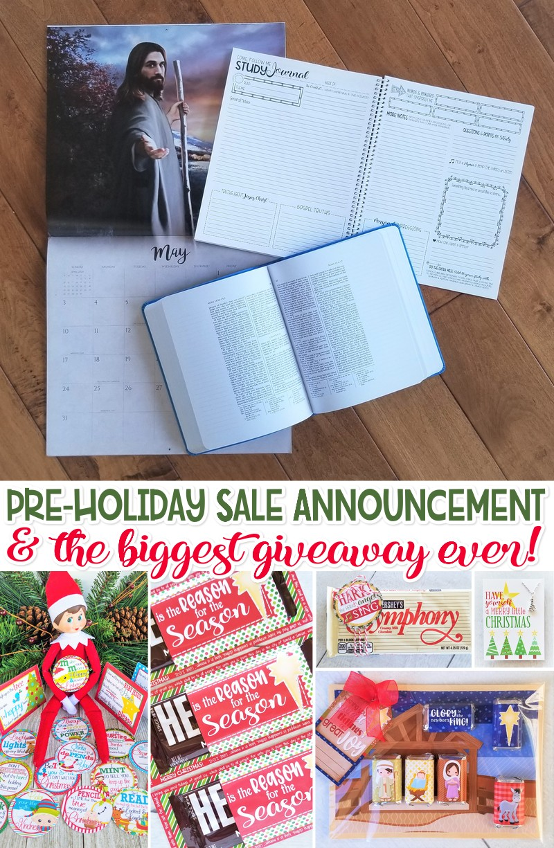 Pre-Holiday Sale Announcement + HUGE GIVEAWAY!!