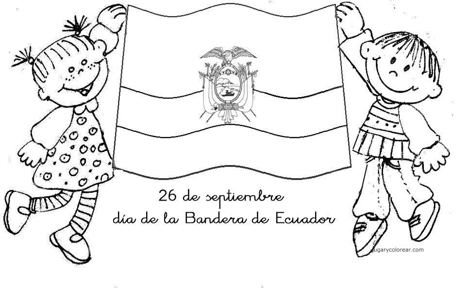 Colorear Día De La Bandera De Ecuador