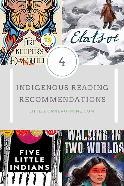 Indigenous Reads (Firekeeper's Daughter, Elatsoe, Five Little Indians, Walking in Two Worlds)