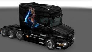 Scania T Girl Warrior Paitnjob