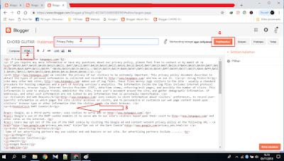 Contoh gambar ilustrasi halaman baru untuk privacy policy