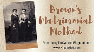 https://romancingthegenres.blogspot.com/2016/06/browns-matrimonial-method.html