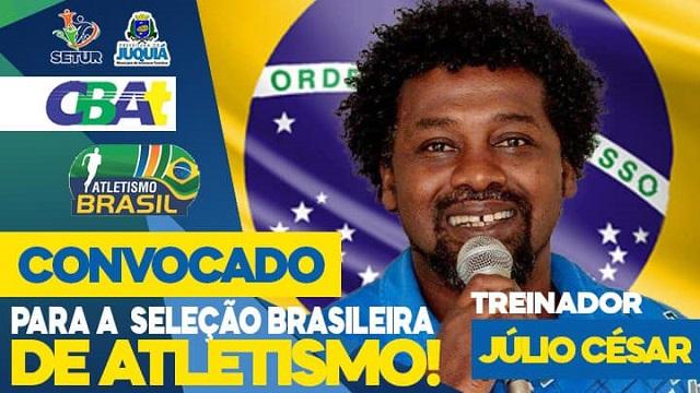 TREINADOR DE JUQUIÁ É CONVOCADO PARA A SELEÇÃO BRASILEIRA DE ATLETISMO