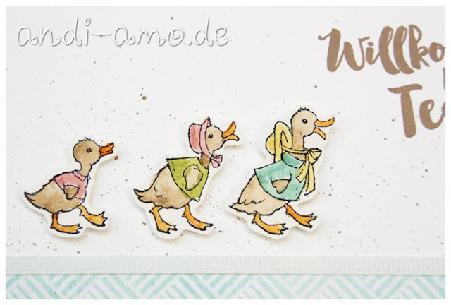 Gaense Stampin Up Fable Friends Aquarell