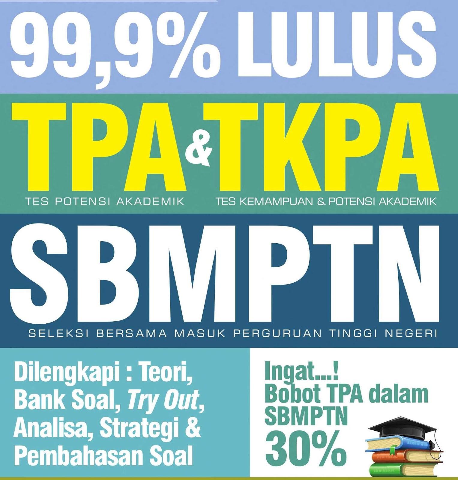 Download 99,9% 99,9% Lulus TPA dan TKPA SBMPTN