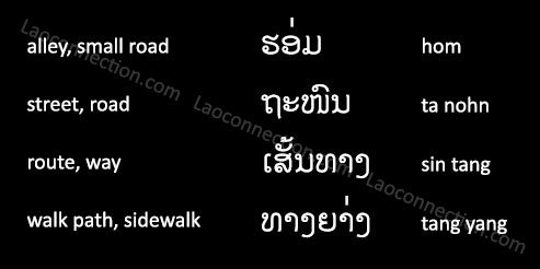Lao Language:  Street Talk - written in Lao and English