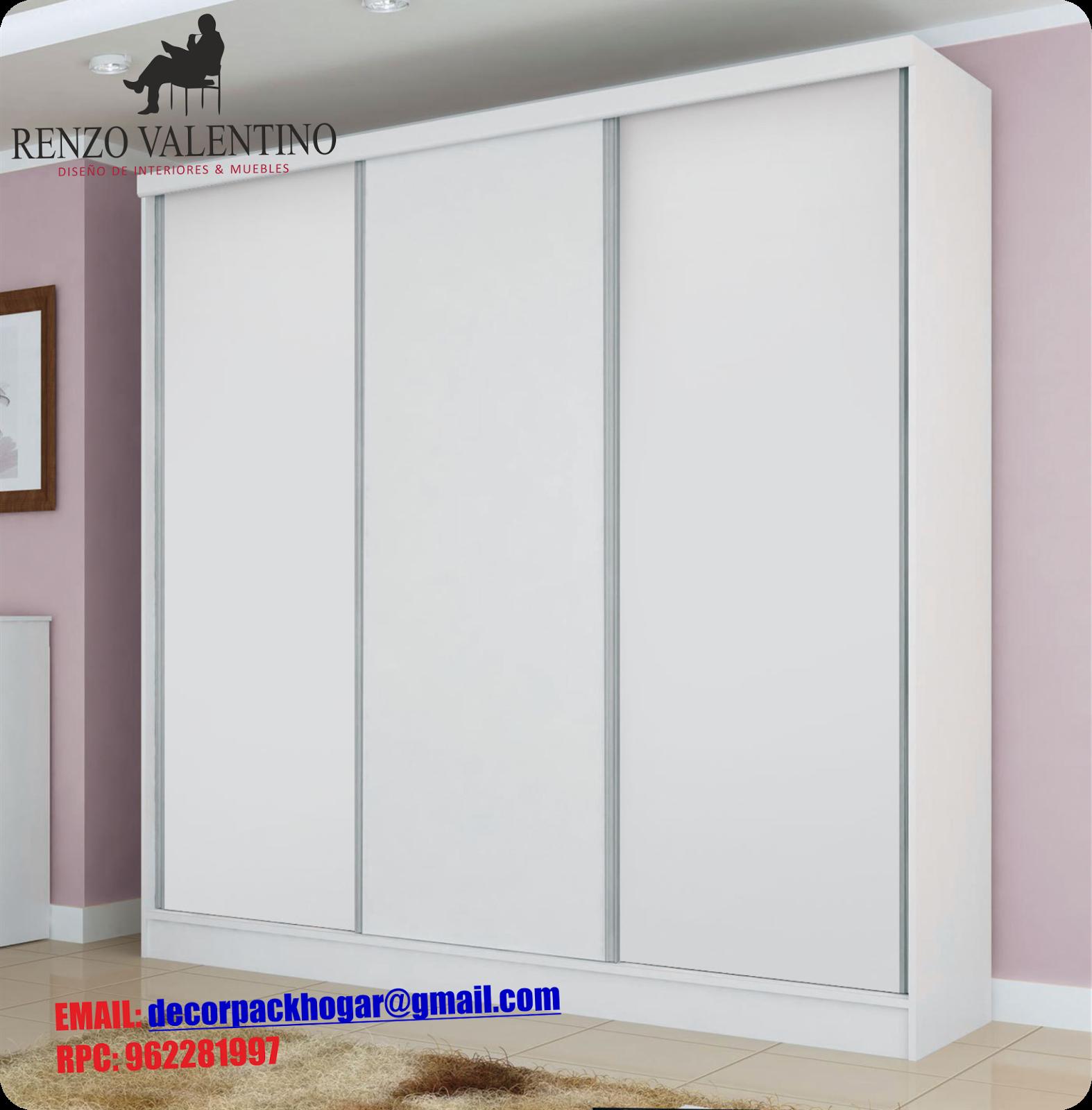 Dise os fabricacion de closet cocina y muebles de oficina - Roperos puertas correderas ...