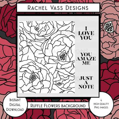 Rachel Vass Designs - Romantic Ruffle Background