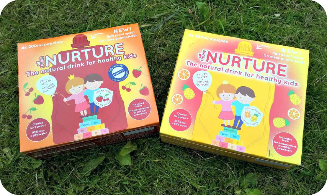 Nurture Drinks Box of four pouches