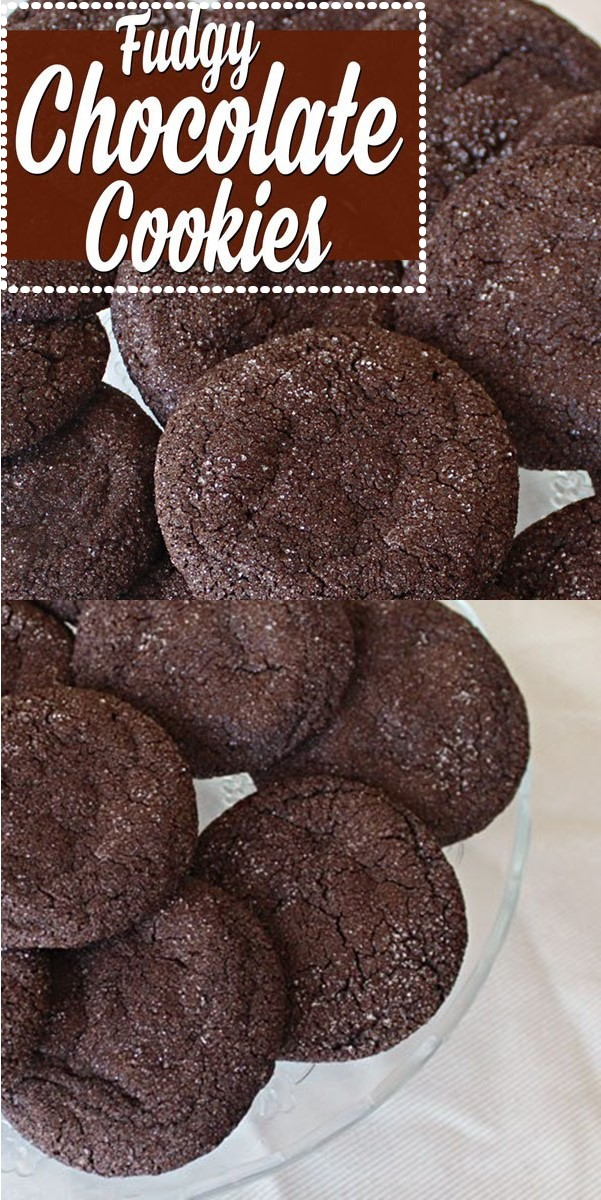 FUDGY CHOCOLATE COOKIES #cookiesrecipes