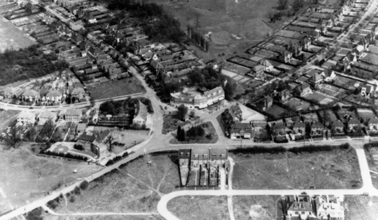 Photograph of Aerial view of Brookmans Park in 1950