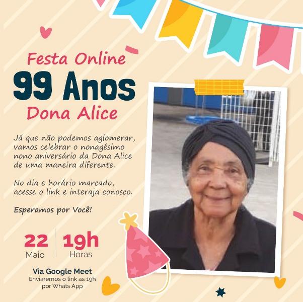 Dona Alice moradora de Juquiá completa 99 anos de idade