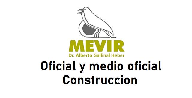 Oficial y Medio Oficial de Construcción  - Mevir - Treinta y Tres y Cerro Largo