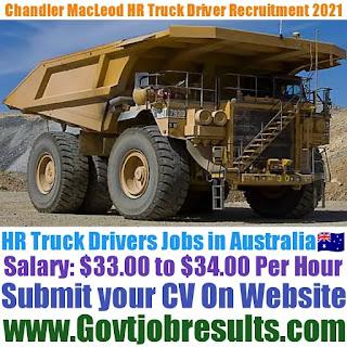 Chandler Macleod HR Truck Driver Recruitment 2021-22