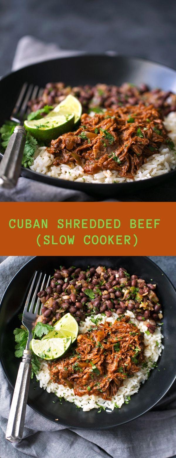 CUBAN SHREDDED BEEF (SLOW COOKER)