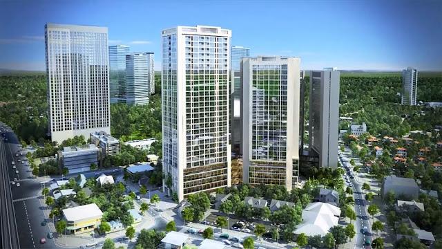 Tổng thể dự án căn hộ chung cư The Garden Hill 99 Trần Bình.