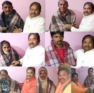 गरीबो मे वितरित किए कंबल- राधेश्याम कमलापुरी  | #NayaSaberaNetwork