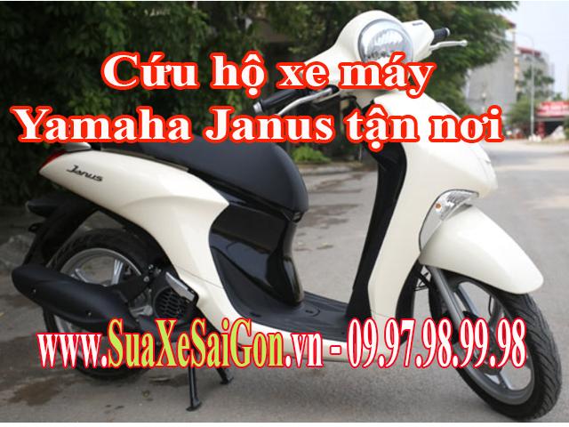 Cứu hộ xe máy Yamaha Janus tận nơi tại TpHCM. Gọi 0902623186 để sửa chữa