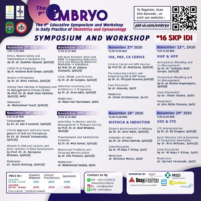 The 9th Educative Symposium in Daily Practice of Obstetric and Gynaecology brings you the most comprehensive *symposium and workshop*