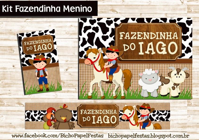 Kit Fazendinha Menino