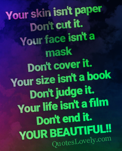 Your skin isn't paper, don't cut it