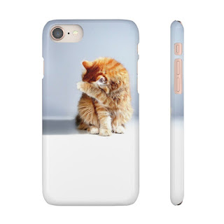 Cute Orange tabby cat Phone Case