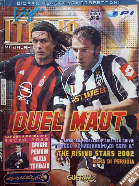 MALDINI OF AC MILAN VS DEL PIERO OF JUVENTUS