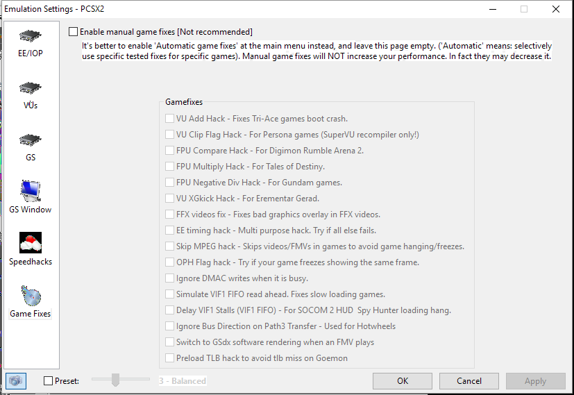 PCSX2 Settings for NCAA Football   ANTDROID