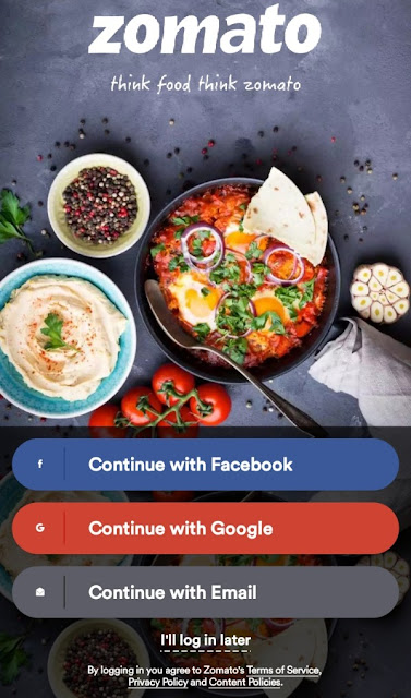 login-to-the-Zomato-App