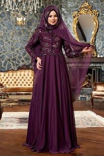 Baju muslim brokat wanita terbaru