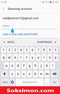 Login Samsung akun