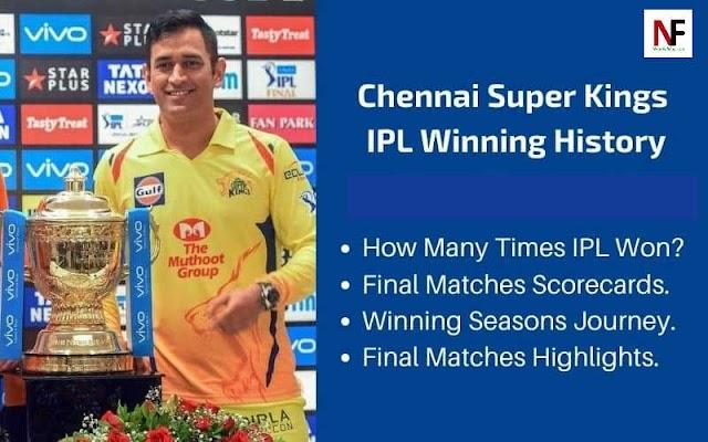 History of Chennai Super Kings (CSK), चेन्नई सुपर किंग्स का इतिहास
