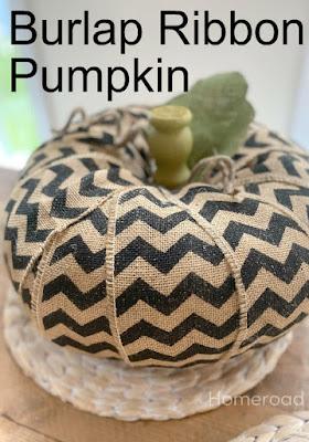 Chevron Burlap pumpkin for fall pin