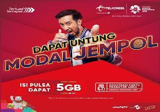 Daftar Paket Modal Jempol Telkomsel, Rp10 Dapat Kuota Hingga 5GB