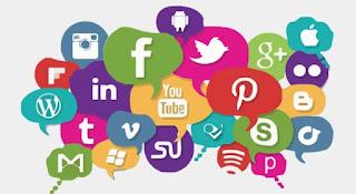 Imagem de vários ícones de redes sociais