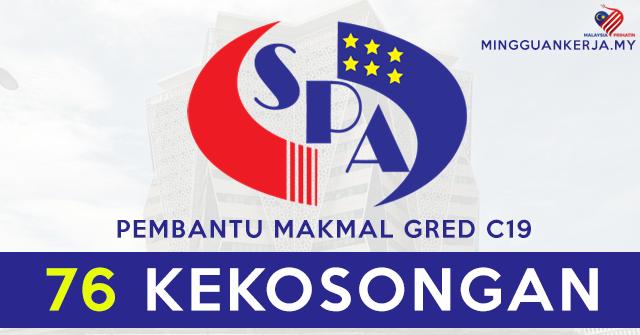Spa Buka 76 Jawatan Kosong Terkini Pembantu Makmal Gred C19 Mohon Segera Sebelum 23 Ogos 2020 Mingguan Kerja