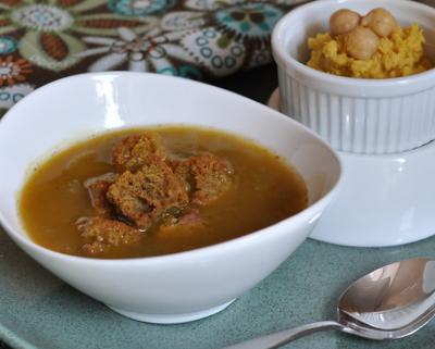 Spiced Pumpkin Soup ♥ AVeggieVenture.com
