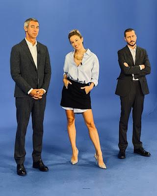 Mia Ceran foto backstage Quelli che il lunedì 19 settembre Luca e Paolo
