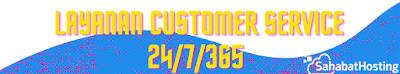 layanan customer service sahabat hosting