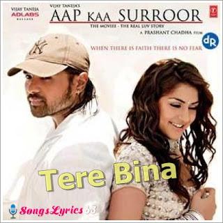 TERE BINA Song Lyrics from Hindi Movie Aap Kaa Surror [2006]