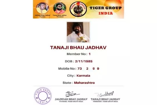 Tiger Group Member Card