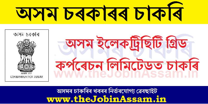 Assam Electricity Grid Corporation Limited Recruitment 2020